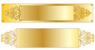 Plaques signalétiques d'or Illustration Libre de Droits