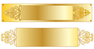 Plaques signalétiques d'or Photos stock