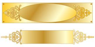 Plaques signalétiques d'or Illustration de Vecteur