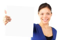Plaquette de fixation de femme Image stock