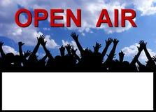 plaquette ouverte de réception d'air Photos libres de droits