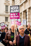 Plaquette - protestation march - Londres Photographie stock