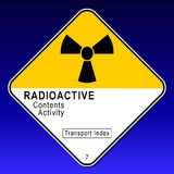 Plaquette radioactive 2 Photos libres de droits