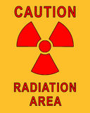 Plaquette radioactive Photos stock