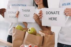 Plaquettes de charité Image libre de droits