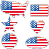 Plaquettes des Etats-Unis Images libres de droits