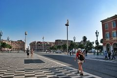 Plase Massena of Nice France Stock Image