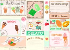Plasemat Ice Cream theme for cafes, bars, restaurants. Royalty Free Stock Photos