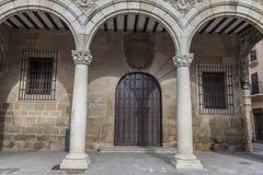 Plasencia stadshusbyggnad, Extremadura Royaltyfri Foto