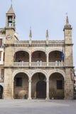 Plasencia stadshusbyggnad, Spanien Royaltyfria Foton
