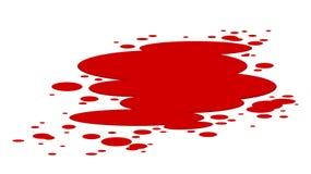 Plash van bloed die op wit wordt geïsoleerdl vector illustratie