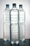 Plasitc bottle. Three plastic bottle of water Stock Photos