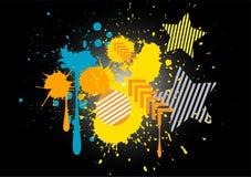 Plaska bakgrund för vektorn för färggrunge grafisk Vektor Illustrationer