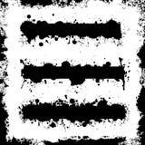 Plaska baneruppsättningen med Grungegränsvektorer Royaltyfri Bild