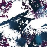 Plaska borsteslaglängdyttersida Ändlös vattenfärg stock illustrationer