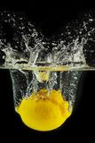 Plaska citron in i en bevattna royaltyfri bild