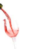 Plaska för rött vin arkivfoto