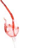 Plaska för rött vin royaltyfri fotografi