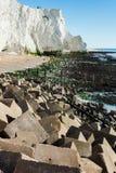Plaska punkt, Seaford, East Sussex royaltyfri fotografi