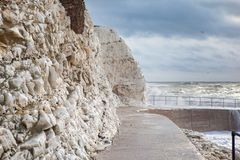 Plaska punkt, Seaford, East Sussex royaltyfri bild