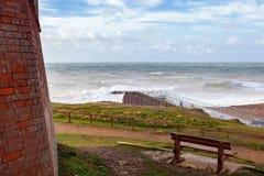 Plaska punkt, Seaford, East Sussex arkivbild