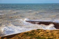 Plaska punkt, Seaford, East Sussex royaltyfria bilder