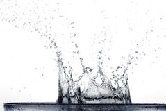plaska vatten Arkivfoton