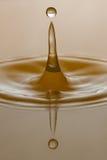 plaska vatten för droppe Royaltyfria Foton