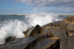 plaska waves för hav Fotografering för Bildbyråer