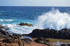 Plaskande hav Arkivbilder