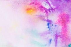Plaskande rosa vattenfärgbakgrund Arkivbild