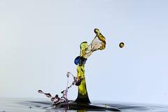 Plaskande vattendroppar som formas en naja Fotografering för Bildbyråer