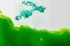 Plaskar den övre sikten för slutet av blandning av målarfärger Royaltyfri Fotografi