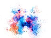 Plaskar färgrik fläckmålarfärg för den abstrakta vattenfärgen borstebakgrund vektor illustrationer