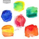 plaskar vattenfärg Sommar ferieuppsättning brigham Fotografering för Bildbyråer