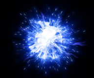 Plasma. Abstract clot of energy in the form of shone plasma on a black background Royalty Free Stock Image