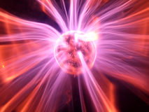 Plasma. A plasma ball shot in the dark Stock Photography