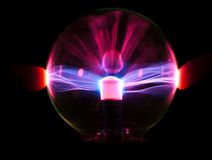 Plasma. Sphere, isolated on black Stock Images
