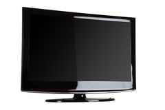 Plasma/affissione a cristalli liquidi TV Fotografie Stock