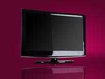 Plasma/affissione a cristalli liquidi TV Fotografia Stock Libera da Diritti