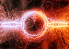 Plasma ardente quente Foto de Stock