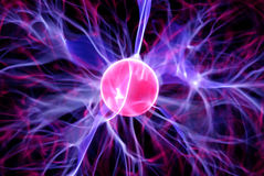 Plasma ball stock image
