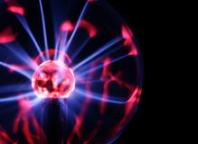 Plasma ball. Closeup of a plasma ball Stock Photo