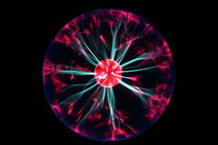 Plasma ball. A plasma ball showing electricity Royalty Free Stock Images