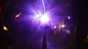 Plasma ball closeup Royalty Free Stock Images
