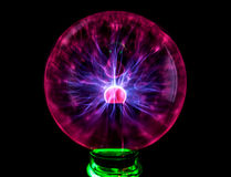 Plasma ball with colorful blots, abstract background Royalty Free Stock Images