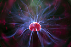 Plasma ball. Cool abstract light pattern made from an electric plasma ball Royalty Free Stock Images