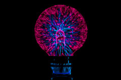 Plasma ball, futuristic abstraction. In pitch dark Royalty Free Stock Image