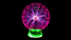 Plasma Ball And Lightning stock footage