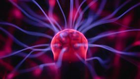 Plasma ball with moving energy rays stock video footage